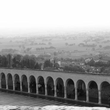 ponte, paesaggio, foto bianco e nero,