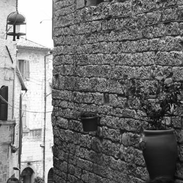 Scorci di muro e vasi